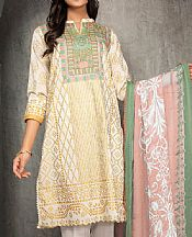 Off-white Lawn Suit (2 Pcs)- Pakistani Lawn Dress