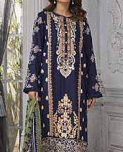 Navy Blue Lawn Suit (2 Pcs)- Pakistani Lawn Dress