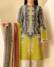 Parrot Green Lawn Suit (2 Pcs)- Pakistani Designer Lawn Dress