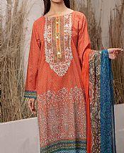 Coral Lawn Suit (2 Pcs)- Pakistani Lawn Dress
