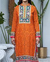 Safety Orange Lawn Kurti- Pakistani Lawn Dress