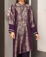 Plum Jacquard Kurti- Pakistani Winter Clothing