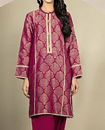 Magenta Jacquard Kurti- Pakistani Winter Dress