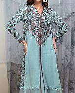 Baby Blue Jacquard Kurti- Pakistani Designer Lawn Dress
