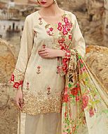 Ivory Jacquard Suit- Pakistani Designer Lawn Dress
