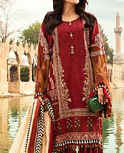 Maroon Lawn Suit- Pakistani Designer Lawn Dress