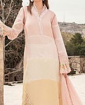 Ivory/Baby Pink Yarn Dyed Suit- Pakistani Designer Lawn Dress