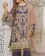 Indigo Chiffon Suit