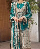 Teal Green Pure Crinkle Chiffon Suit- Pakistani Chiffon Dress