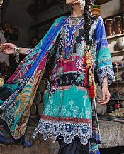 Multicolor Lawn Suit- Pakistani Designer Lawn Dress