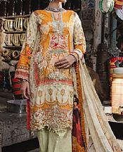 Ivory/Mustard Lawn Suit- Pakistani Designer Lawn Dress