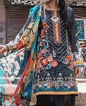 Charcoal Lawn Suit- Pakistani Designer Lawn Dress