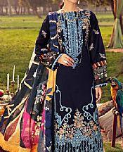 Navy Lawn Suit- Pakistani Designer Lawn Dress