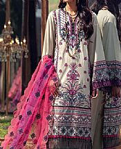 Ivory/Lilac Lawn Suit- Pakistani Designer Lawn Dress