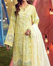 Lemon Lawn Suit- Pakistani Lawn Dress