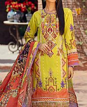 Lime Green Lawn Suit- Pakistani Designer Lawn Dress