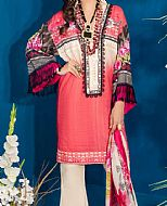 Brink Pink Lawn Suit- Pakistani Designer Lawn Dress