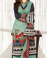 Sea Green Lawn Suit- Pakistani Lawn Dress