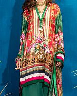 Hot Pink/Green Lawn Suit- Pakistani Designer Lawn Dress