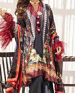Charcoal Grey Lawn Suit- Pakistani Lawn Dress