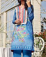 Blue Lawn Suit (2 Pcs)- Pakistani Designer Lawn Dress