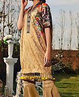Beige Lawn Suit (2 Pcs)- Pakistani Lawn Dress