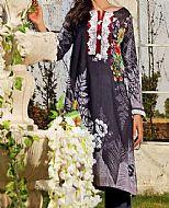 Charcoal Lawn Suit (2 Pcs)- Pakistani Designer Lawn Dress