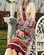 Fawn Lawn Suit (2 Pcs)- Pakistani Designer Lawn Dress