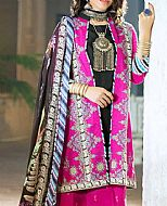 Shocking Pink Cambric Suit- Pakistani Winter Clothing