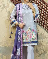 Grey Cambric Suit- Pakistani Winter Dress