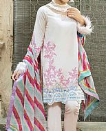 Ivory Cambric Suit- Pakistani Winter Dress