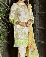 Ivory/Yellow Cambric Suit- Pakistani Winter Dress