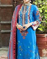 Turquoise Cambric Suit- Pakistani Winter Clothing