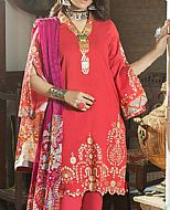 Coral Cambric Suit- Pakistani Winter Dress