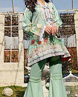 Light Sea Green Lawn Suit (2 Pcs)- Pakistani Lawn Dress