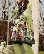 Mint Green Lawn Suit (2 Pcs)- Pakistani Designer Lawn Dress