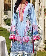 Baby Blue Lawn Suit (2 Pcs)- Pakistani Designer Lawn Dress