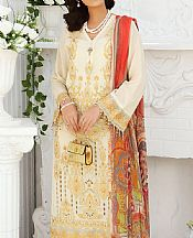 Off-white Lawn Suit- Pakistani Lawn Dress