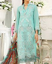Aqua Lawn Suit- Pakistani Lawn Dress