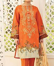 Safety Orange Lawn Suit- Pakistani Lawn Dress