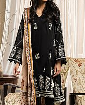 Black Cambric Suit (2 Pcs)- Pakistani Designer Lawn Dress