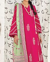 Magenta Cambric Suit (2 Pcs)- Pakistani Lawn Dress