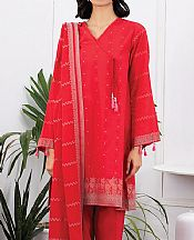 Red Jacquard Suit- Pakistani Lawn Dress