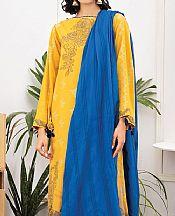 Golden Yellow Jacquard Suit- Pakistani Lawn Dress