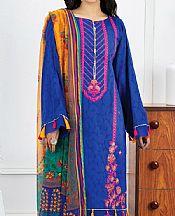 Dark Blue Jacquard Suit- Pakistani Designer Lawn Dress