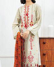 Ash White Jacquard Suit- Pakistani Designer Lawn Dress