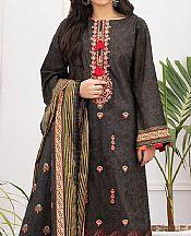 Dark Grey Lawn Suit- Pakistani Lawn Dress