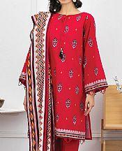 Red Lawn Suit- Pakistani Lawn Dress