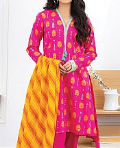 Socking Pink Lawn Suit- Pakistani Lawn Dress