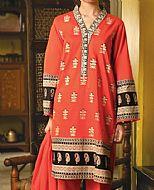 Bright Orange Lawn Suit- Pakistani Lawn Dress